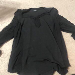 Black shirt with silky front and back panels